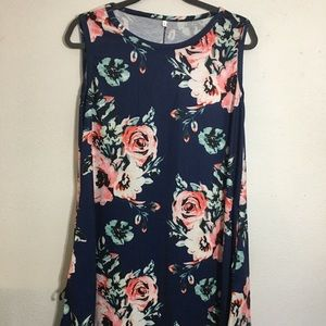 Floral Tank top dress with pockets